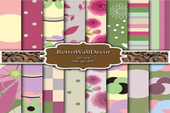 Digital Decoupage Papers Graphic By Retrowalldecor Creative