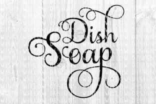 Download Free Dish Soap Elegant Scroll Cut File Graphic By Wispywillowdesigns for Cricut Explore, Silhouette and other cutting machines.