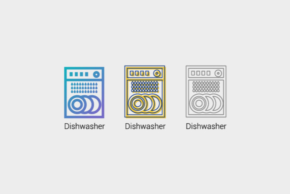 Download Free Dishwasher Icon Graphic By Kitcreativestudio Creative Fabrica for Cricut Explore, Silhouette and other cutting machines.