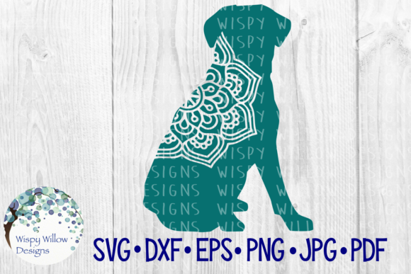 Download Free Dog Mandala Animal Cut File Graphic By Wispywillowdesigns for Cricut Explore, Silhouette and other cutting machines.
