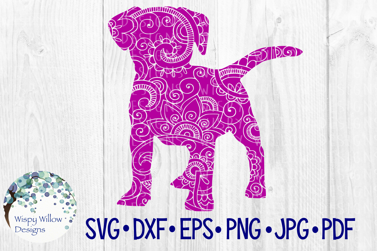 Download Free Dog Zentangle Puppy Intricate Animal Graphic By for Cricut Explore, Silhouette and other cutting machines.
