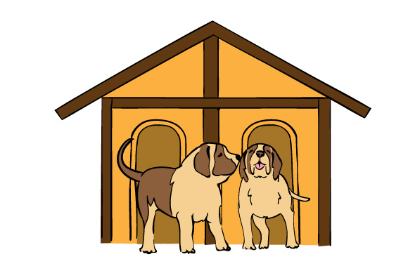 Download Free Doghouse With 2 St Bernards Svg Cut File By Creative Fabrica for Cricut Explore, Silhouette and other cutting machines.