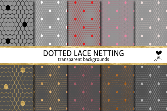 Print on Demand: Dotted Lace Netting Graphic Textures By JulieCampbellDesigns - Image 1