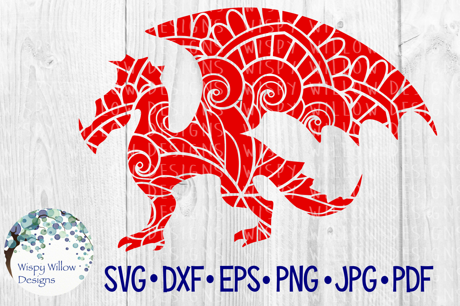 Download Free Dragon Mandala Cut File Graphic By Wispywillowdesigns Creative for Cricut Explore, Silhouette and other cutting machines.