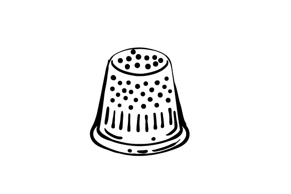 Download Free Drawing Of Thimble Svg Cut File By Creative Fabrica Crafts for Cricut Explore, Silhouette and other cutting machines.
