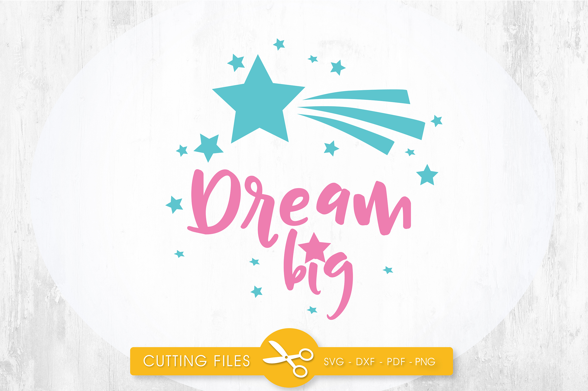 Download Free Dream Big Star Graphic By Prettycuttables Creative Fabrica for Cricut Explore, Silhouette and other cutting machines.