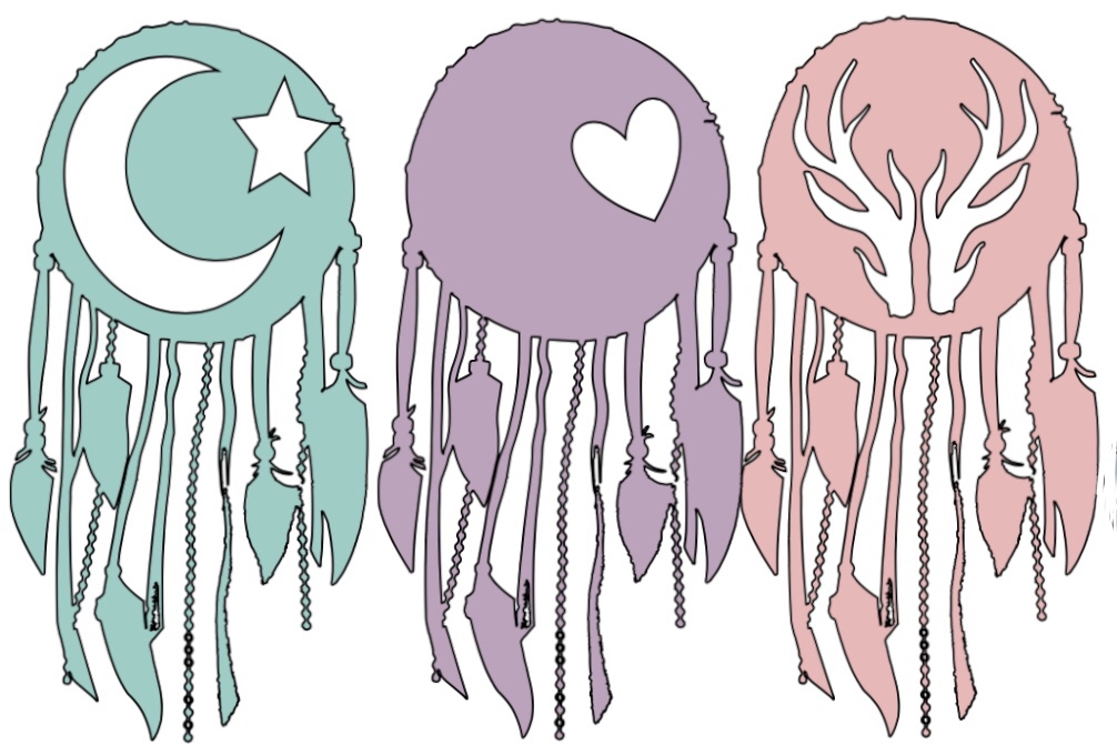 Download Free Dream Catcher Tribe Graphic By Blazoned Boon Creative Fabrica for Cricut Explore, Silhouette and other cutting machines.