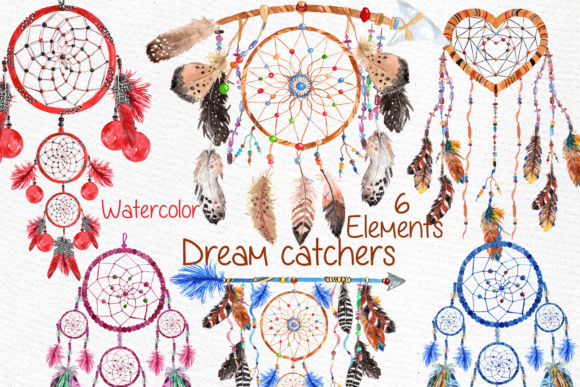 Dreamcatchers Clipart Graphic Illustrations By LeCoqDesign