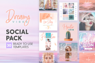 Print on Demand: Dreamy Vibes - Social Pack Graphic Presentation Templates By lavie1blonde