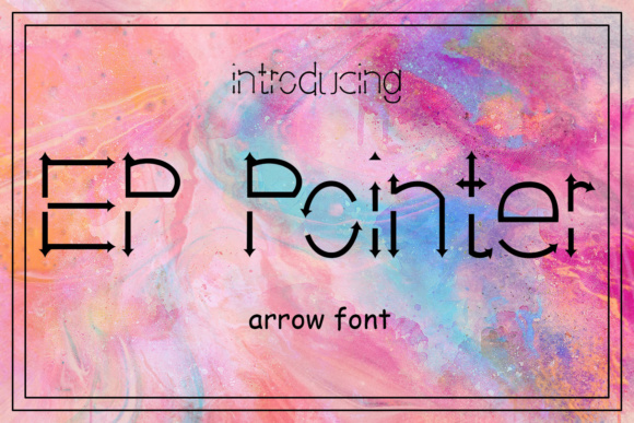 Print on Demand: EP Pointer Decorative Font By Emily Penley Fonts