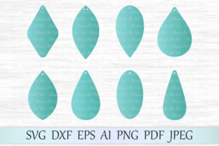 Download Free Earrings Template Graphic By Magicartlab Creative Fabrica for Cricut Explore, Silhouette and other cutting machines.
