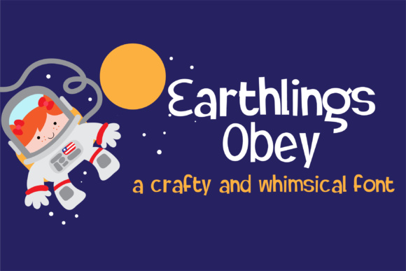 Print on Demand: Earthlings Obey Display Font By Illustration Ink