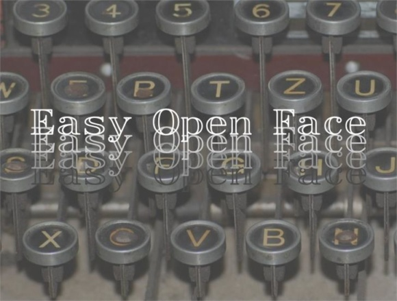 Print on Demand: Easy Open Face Display Font By Intellecta Design