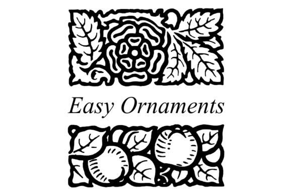 Print on Demand: Easy Ornaments Dingbats Font By Intellecta Design
