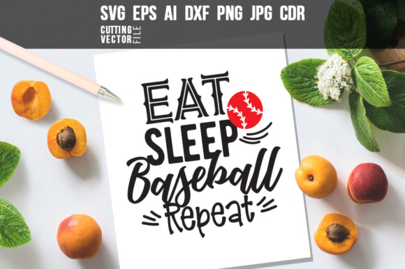 Eat Sleep Baseball Repeat Graphic Crafts By danieladoychinovashop