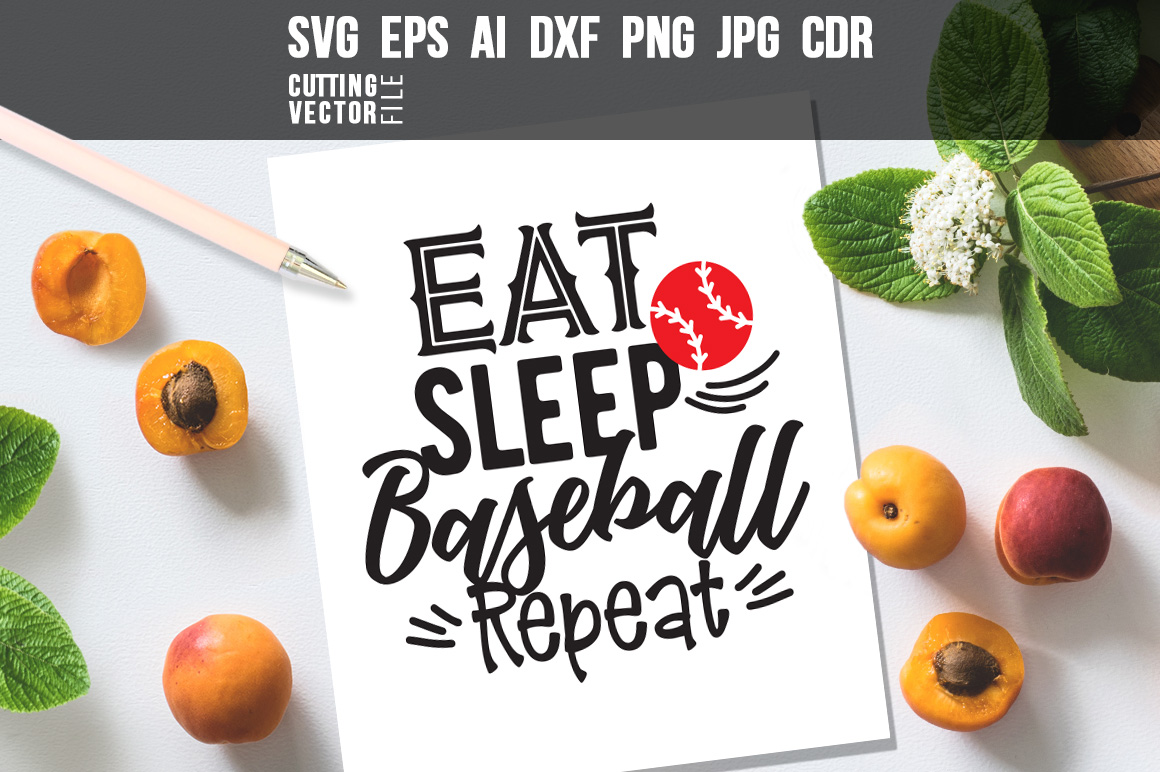 Download Free Eat Sleep Baseball Repeat Graphic By Danieladoychinovashop for Cricut Explore, Silhouette and other cutting machines.