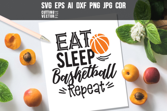 Eat Sleep Basketball Repeat Graphic Crafts By danieladoychinovashop