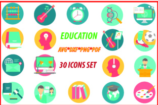 Education Icons Set Graphic By Best_Store