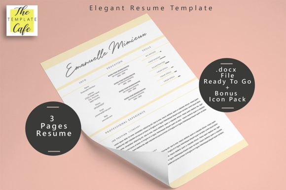 Download Free Simple Elegant Resume Template Graphic By Rustype Creative Fabrica for Cricut Explore, Silhouette and other cutting machines.