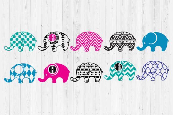 Elephant 2  Graphic Crafts By Cutperfectstudio
