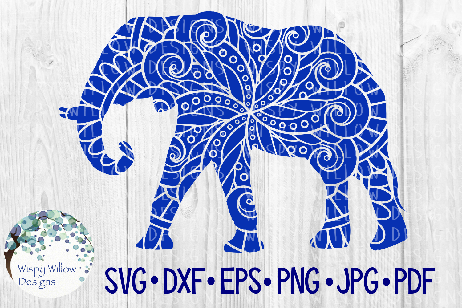 Download Free Elephant Animal Mandala Cut File Graphic By Wispywillowdesigns Creative Fabrica for Cricut Explore, Silhouette and other cutting machines.