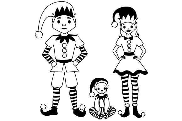 Download Free Elf Family Parents With Small Elf Svg Cut File By Creative for Cricut Explore, Silhouette and other cutting machines.