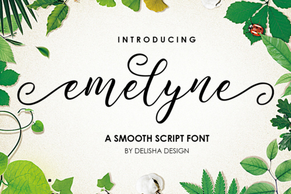 Print on Demand: Emelyne Script Script & Handwritten Font By delishadesign.font