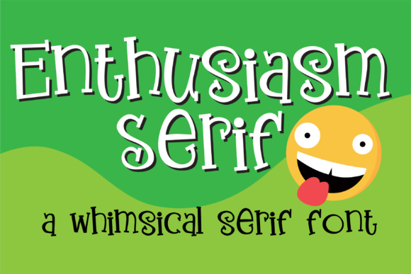 Print on Demand: Enthusiasm Serif Serif Font By Illustration Ink - Image 1