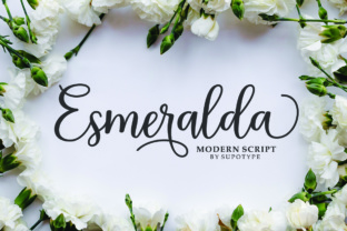 Print on Demand: Esmeralda Script Script & Handwritten Font By supotype