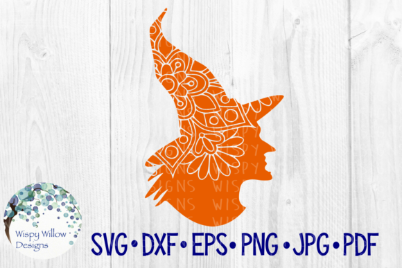 Evil Witch Halloween Fall Mandala Cut File Graphic By
