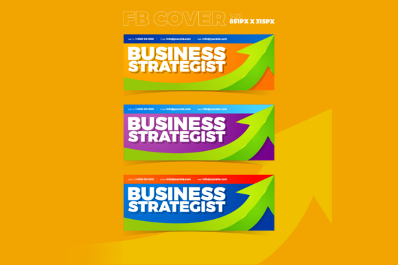 Facebook Cover Business Strategist Graphic By KitCreativeStudio