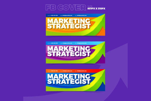 Facebook Cover Marketing Strategist Graphic By KitCreativeStudio