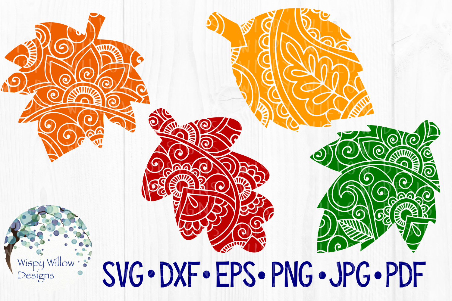 Download Free Fall Leaves Falling Leaf Zentangle Mandala Cut File Graphic for Cricut Explore, Silhouette and other cutting machines.