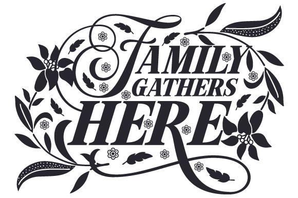 Family Gathers Here Home Craft Cut File By Creative Fabrica Crafts - Image 1