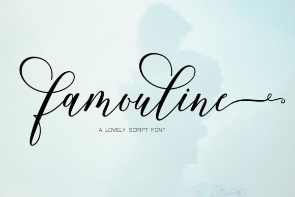 Print on Demand: Famouline Script Script & Handwritten Font By JhoelDesign