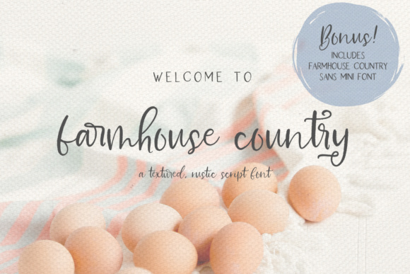 Print on Demand: Farmhouse Country Script & Handwritten Font By BeckMcCormick