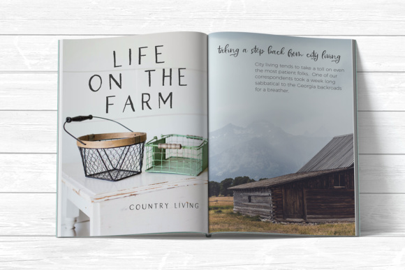 Print on Demand: Farmhouse Country Script & Handwritten Font By BeckMcCormick - Image 8