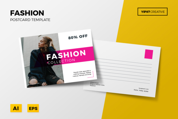 Fashion Postcard Graphic Print Templates By yip87 - Image 1