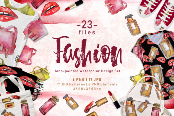 Print on Demand: Fashion Accessories PNG Watercolor Set Graphic Illustrations By MyStocks