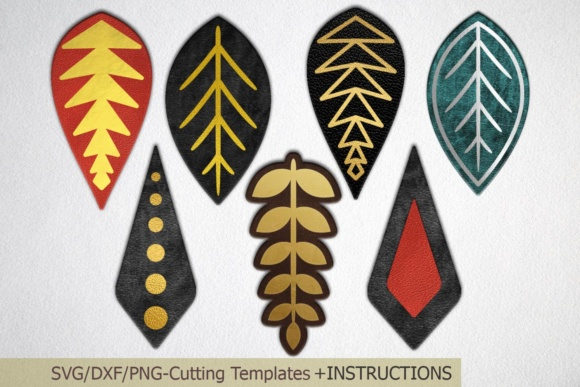 Download Free Faux Leather Earring Faux Leather Earrings Leaves Earrings for Cricut Explore, Silhouette and other cutting machines.