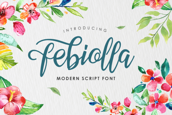 Print on Demand: Febiolla Script Script & Handwritten Font By Arterfak Project