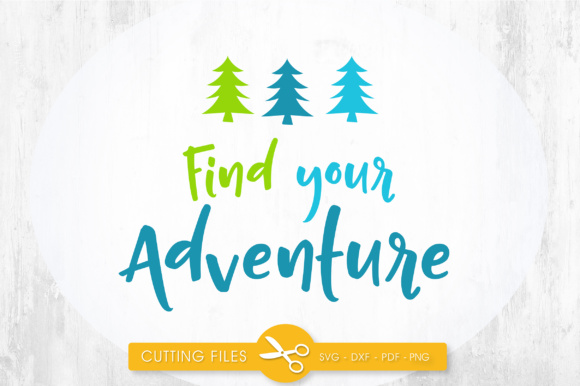 Find Your Adventure Graphic By PrettyCuttables