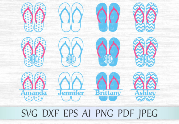 Download Free Flip Flop Graphic By Magicartlab Creative Fabrica for Cricut Explore, Silhouette and other cutting machines.