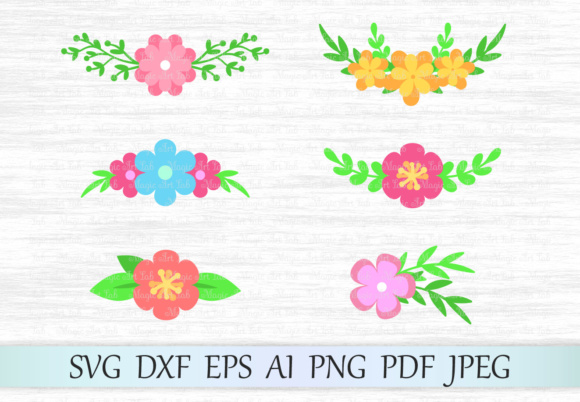 Download Free Floral Bouquets Graphic By Magicartlab Creative Fabrica for Cricut Explore, Silhouette and other cutting machines.