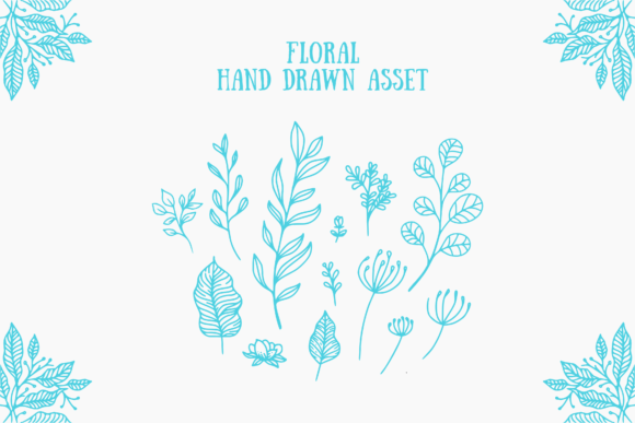 Print on Demand: Floral Handdrawn Asset Graphic Illustrations By herbanuts