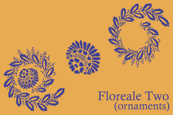 Print on Demand: Floreale Two Dingbats Font By Intellecta Design