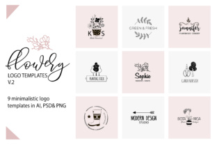 Flower Logo Templates V.2 Graphic By switzershop