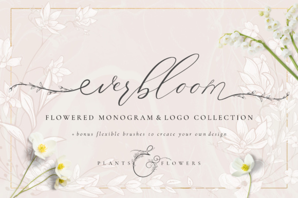 Print on Demand: Flowered Monogram & Logo Collection Gráfico Logos Por Olya.Creative
