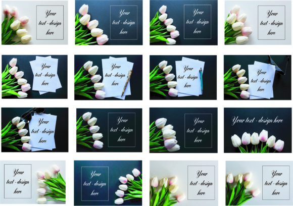 Print on Demand: Flowers Mockup Styled Stock Photography Stock Photo Graphic Product Mockups By Goran Stojanovic