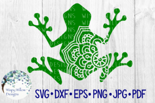 Download Free Frog Mandala Animal Cut File Graphic By Wispywillowdesigns for Cricut Explore, Silhouette and other cutting machines.